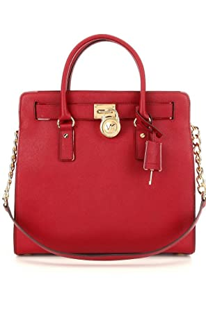 f3b69551511c Amazon.com: Michael Kors Specchio Hamilton Satchel Red: Shoes