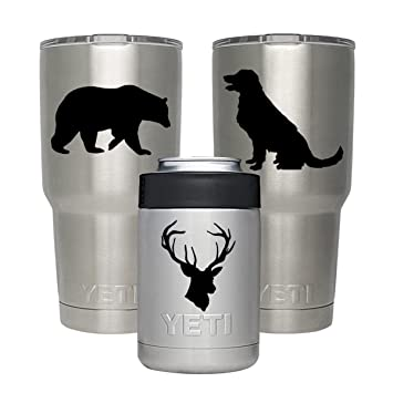 Vinyl stickers for yeti tumbler 20 30 oz lowball rambler cups 3 patterns personalized decal