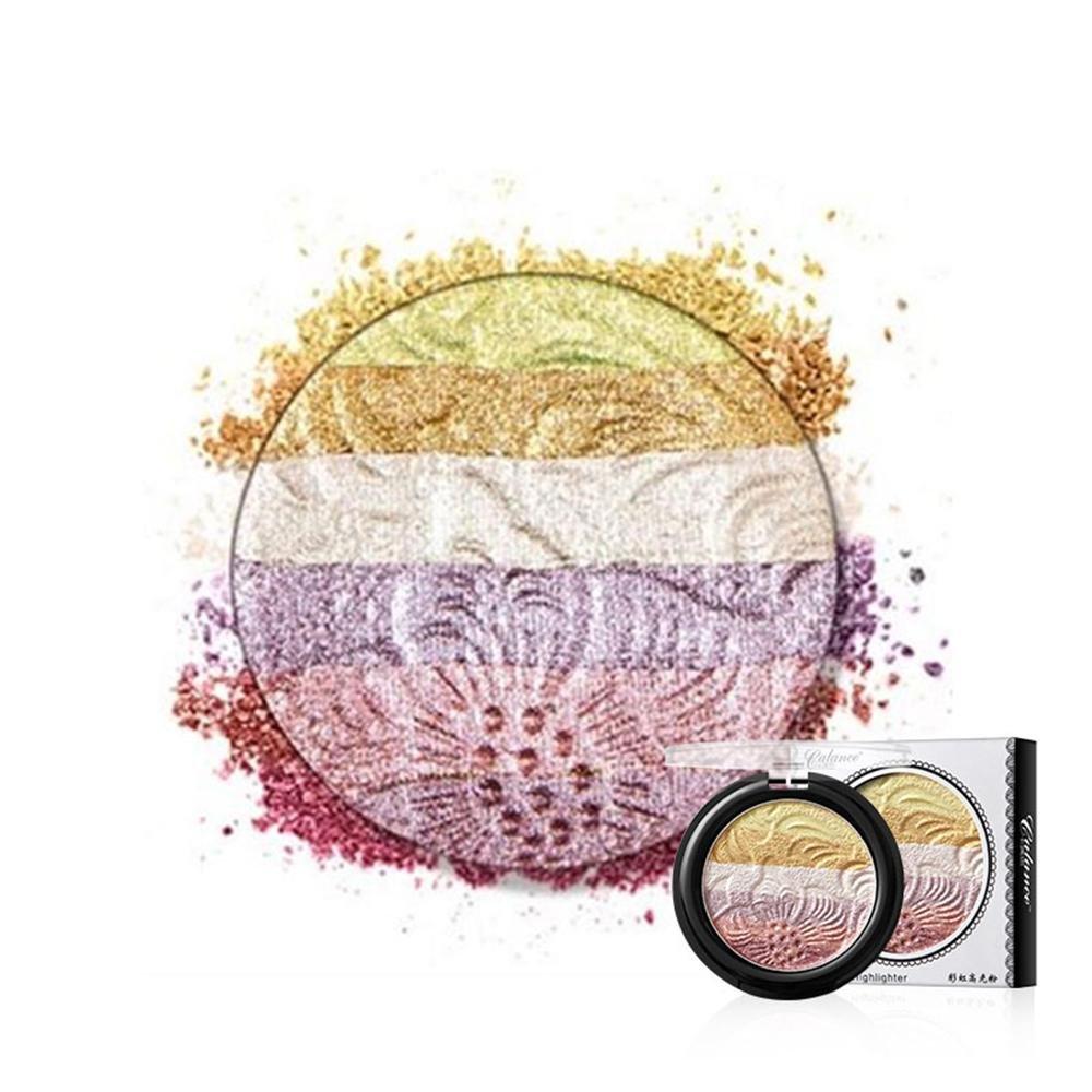 KOBWA - Paleta de maquillaje en polvo para cejas, color arcoíris