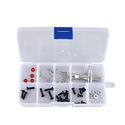 10 ranuras Caja de almacenamiento de herramientas portátil Caja Tornillo Nail Craft Contenedor Organizador
