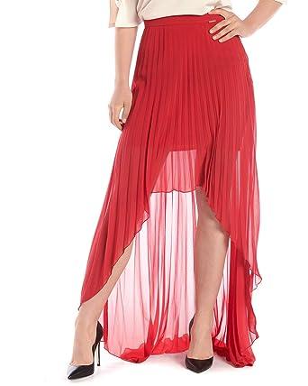 Liu Jo - Falda DE Mujer I18225T1557 I18225T1557 Rojo 40: Amazon.es ...