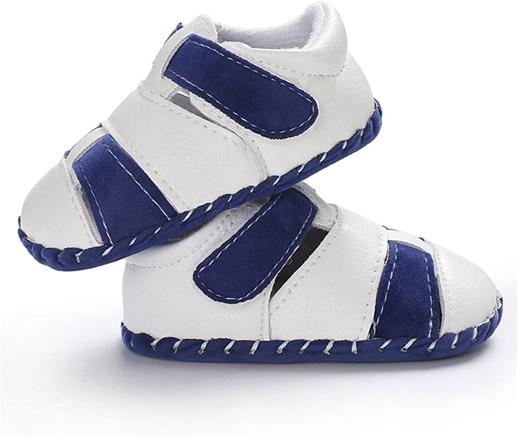 Baby Boys Girls First Walking Shoes Soft Sole Non-Slip Breathable Walkers Sandal
