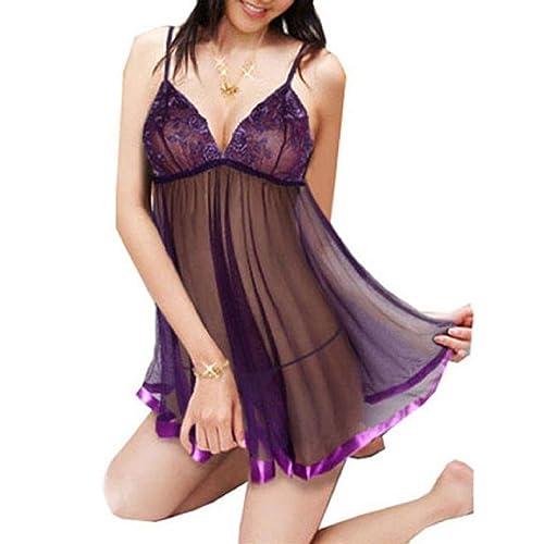 Longra Set de lencería de bordar Señora Imprimir Perspectiva Lure Pijamas Mujer Ropa interior