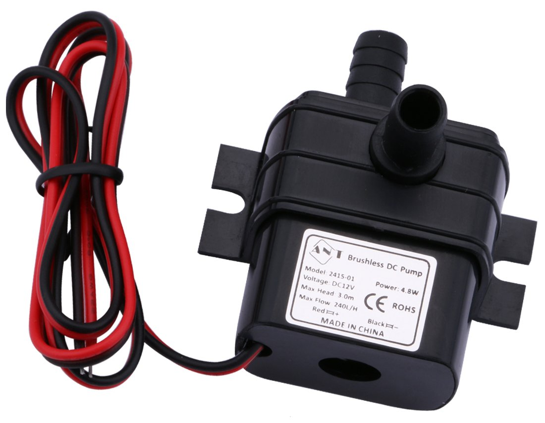 Driew 4.8W DC 12V Mini Submersible Water Pump, Brushless Waterproof Water Pump For Pond, Aquarium, Fish Tank Fountain Pumping,:240L/H
