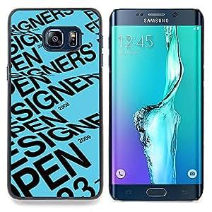- Designer Open Blue Text Event Poster/ Duro Snap en el tel????fono celular de la cubierta - Cao - For Samsung Galaxy S6 Edge Plus