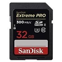SanDisk Extreme PRO 32 GB SDHC-Speicherkarte bis zu 300 MB/Sek, UHS-II, Class 10, U3