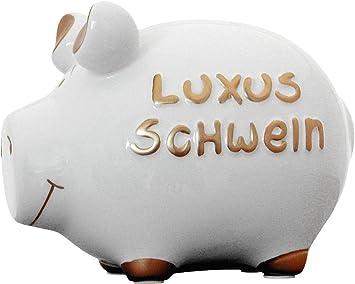 12.5 cm x 9 cm KCG Kleinschwein Keramik Sparschwein NOTGROSCHEN ca