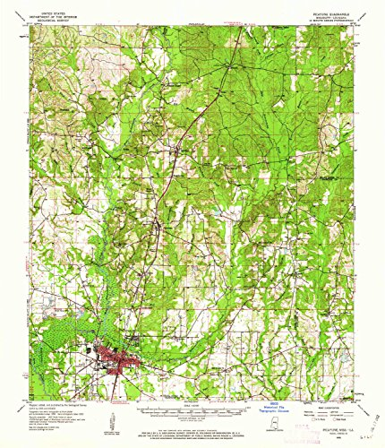 YellowMaps Picayune MS topo map, 1:62500 scale, 15 X 15 Minute, Historical, 1958, updated 1962, 20.9 x 17.9 IN - (1962 Park Brake)