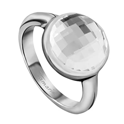 Tamaris Stainless Steel White Crystal Fashion Ring KYX2topXR