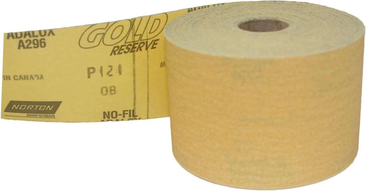 120 Grit Norton Gold Reserve PSA Sheet Rolls 2-3//4 X 25 YDS