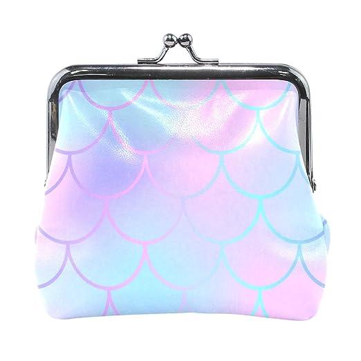 daa38a29d703 Coin Purse Pink Blue Fish Skin Womens Wallet Clutch Bag Girls Small ...