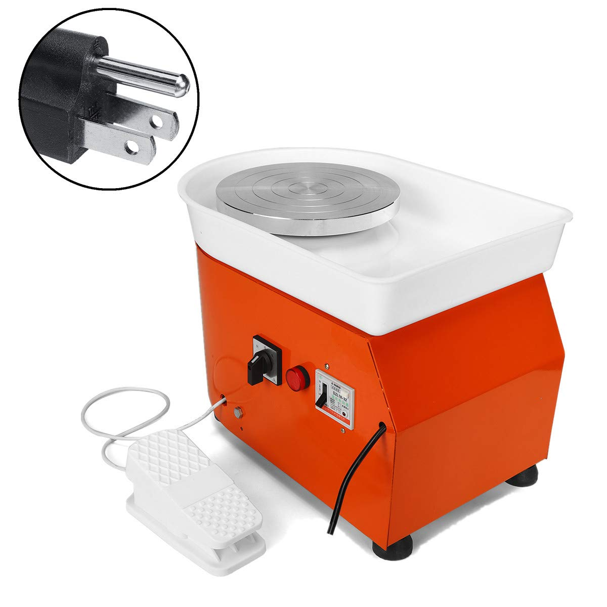 110V 350W Electric Pottery Wheel Machine with Foot Pedal Ceramic Work Clay Craft Electric Pottery Wheel DIY Clay Tool for Adults by RETERMIT (Image #6)