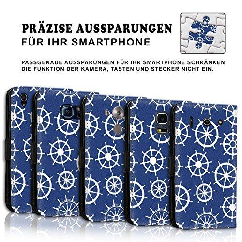 Wallet Book Style Flip Handy Tasche Case Schutz Hülle Schale Motiv Etui für Apple iPhone 6 / 6S - Design Flip MVD218