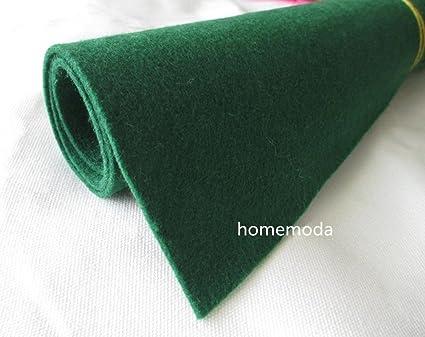 a4d73c0fd3c80 Thick Wool Blend Felt 3mm 1 Yard Cut, Felt Yardage, Wool Felt Fabric, Wool  Felt Kit, (Green 3)