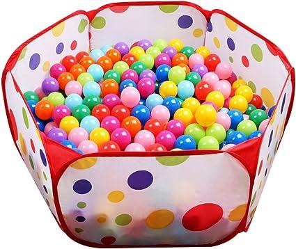 Piscina De Bolas Hexágonal De Lunares Para Niños Parque Ball Pit Interior Y Exterior Fácil De Plegar Juego De Casa Para Niños 100cm Toys Games