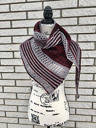 Merino Wool Handknit Shawl by Yarnie Stone