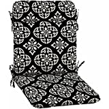 Better Homes and Gardens- Outdoor Patio Wrought Iron Chair Pad, Black White Medallion