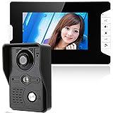 ENNIO 7 Inch Video Door Phone Doorbell Intercom Kit 1-camera 1-monitor Night Vision with IR-CUT HD 1000TVL Camera