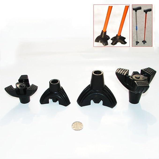 Healifty Embout de Canne Durable en caoutchouc de 19mm noir