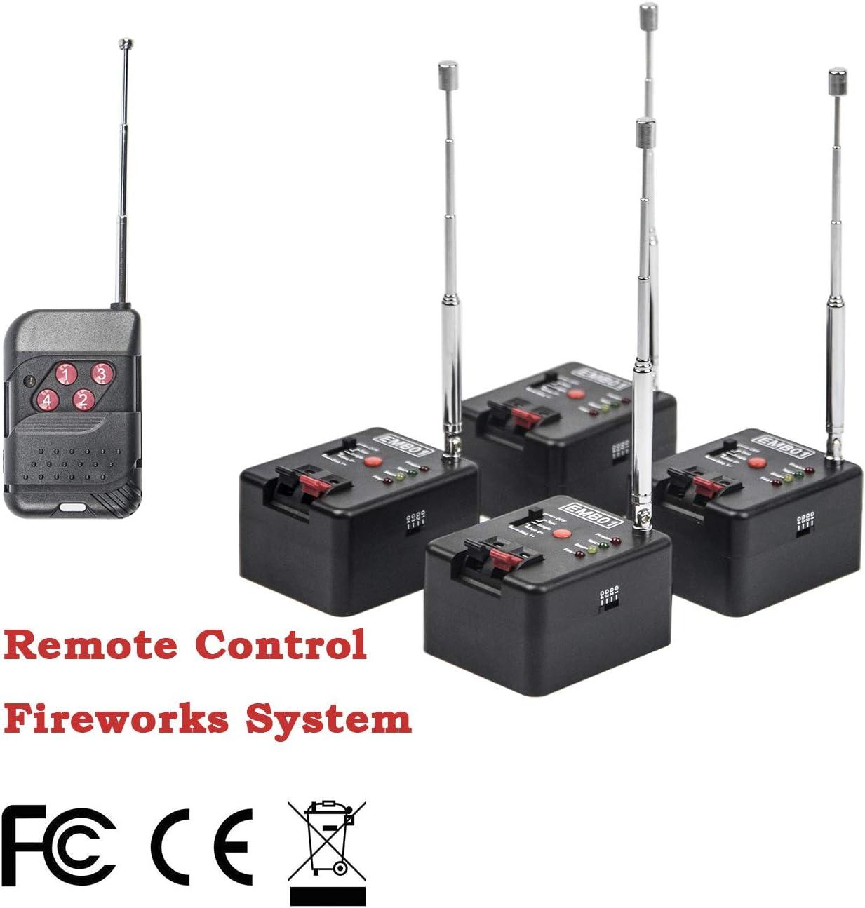 4 Cue Remote Wireless Control Fire-Work Firing Systemand Wedding Equipment EMB01-04R