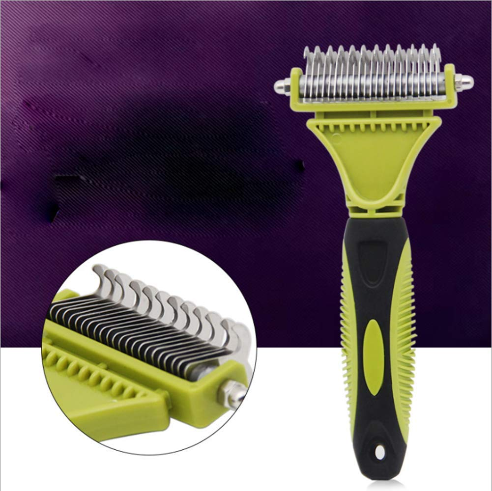 XXL Best Professional Pet Grooming Undercoat Rake, Dematting Tool for Large, Medium & Small Dogs & Cats, Removes Loose Undercoat, Matts & Tangled Hair Within Minutes!