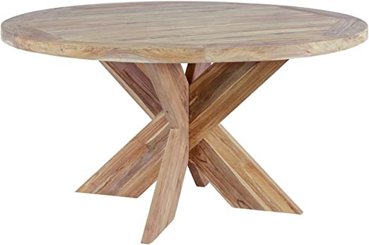 OUTLIV. Table Ronde en Bois Massif Quantum Design Table de ...