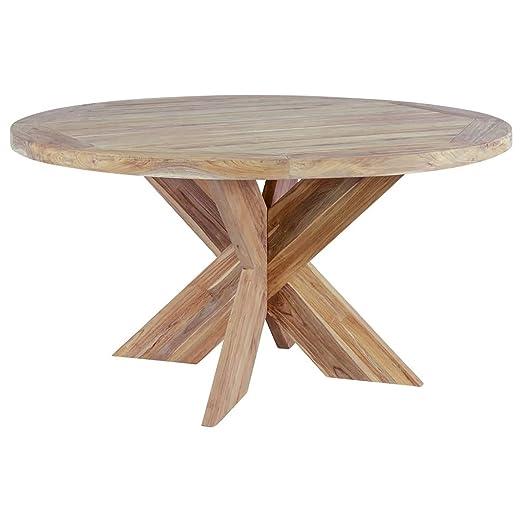 OUTLIV. Table Ronde en Bois Massif Quantum Design Table de ...