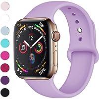 Lerobo Sport Correa para Apple Watch Correa 38mm 42mm 40mm 44mm, Pulsera de Repuesto de Silicona Suave Correa para Apple Watch Series 4, Series 3, Series 2, Series 1, 16 Colores