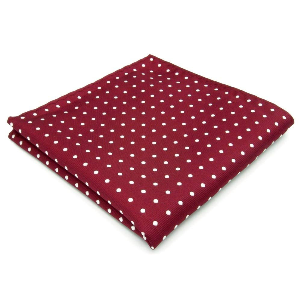 shlax& wing Men's Hanky 12.6 Dots Red Pocket Square Shlax & Wing KH15