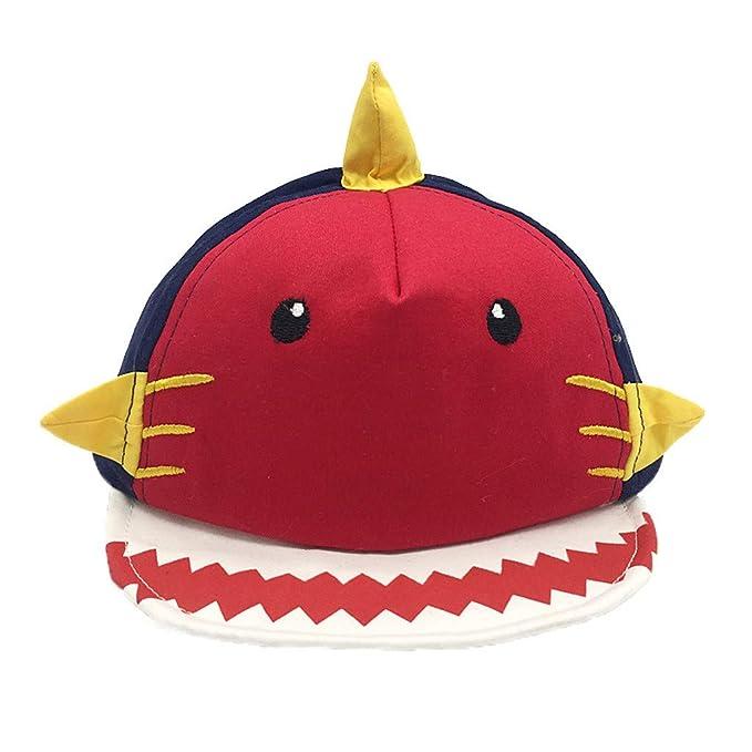 PinkLu Sombrero Bebe niño Dibujos Animados Tiburón Gorra Verano ...