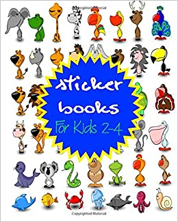 Sticker Books For Kids 2-4: Blank Sticker Book, 8 x 10, 64 Pages