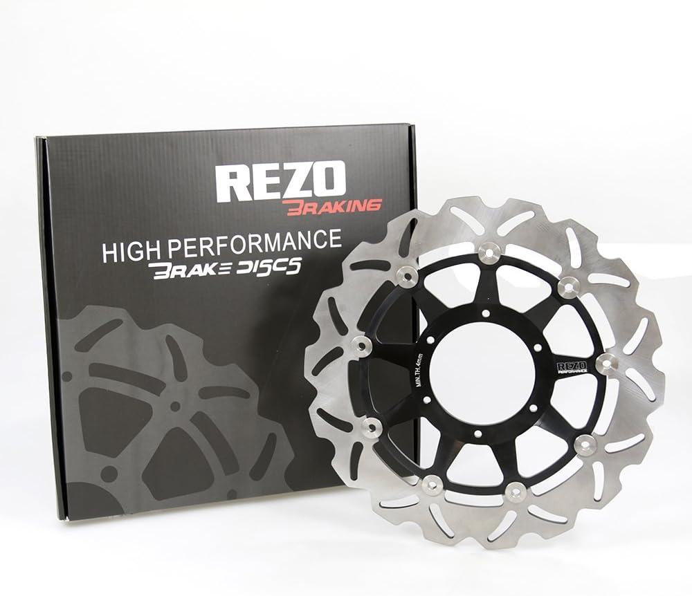 Pair Rezo Wavy Stainless Front Brake Disc Honda CBR 1000 RR Fireblade 08-16