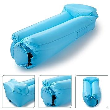 icefox Impermeable Inflable Sofá de Aire Transportable Air Lounger con Bolsa de Transporte para Dormir al