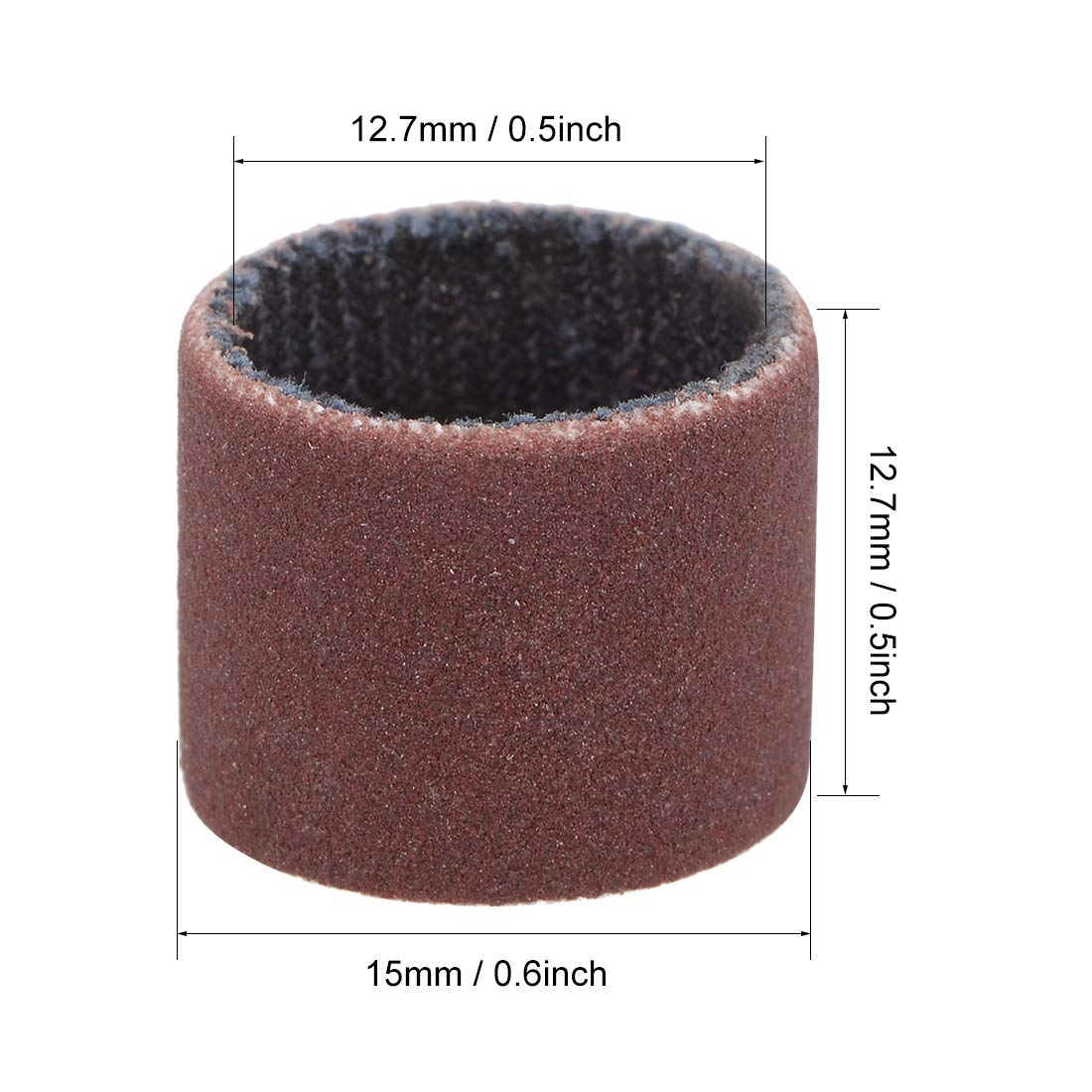 uxcell 1//2 inch x 1//2 inch Sanding Sleeves 400 Grits Sandpapers Band Drums 10 Pcs