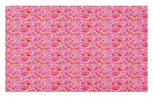 Printed Floor Mats,Simplistic Cubes Pattern Dimension Effect Squares Image,Bath Mats 30