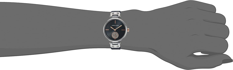 Anne Klein Women's Swarovski Crystal Accented Mesh Bracelet Watch Blue/Silver