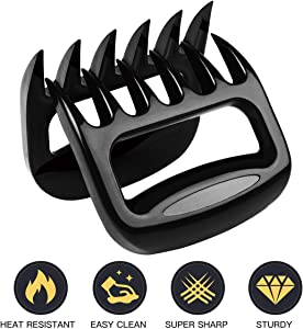 BBQ Bear Claws For Pulled Pork, BBQ Meat Shredder Claws, Grill Smoker Bear Meat Paw Claws, Smoked Barbecue Grilling Accessories By OpaceLuuk (Black) Upgraded