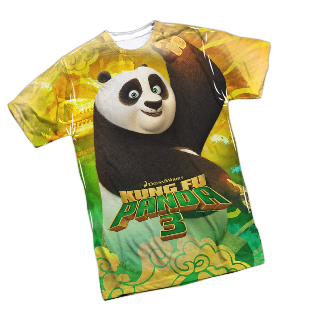 8e01fd1d Amazon.com: Stance -- Kung Fu Panda 3 All-Over Front Print Sports Fabric T- Shirt: Clothing