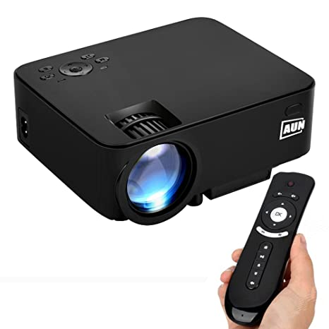 AUN 2 in 1 Android Proyector + TV Box 1500 Lúmenes LED Proyector ...