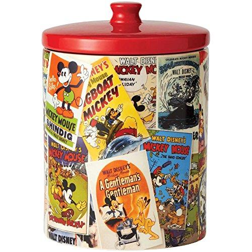 Disney Mickey Mouse Ceramic Cookie Jar - Collectible Vintage