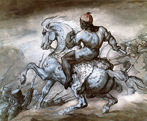 (Episode from the Colonial War: Black Man and His Prancing Horse by Theodore Gericault - 20