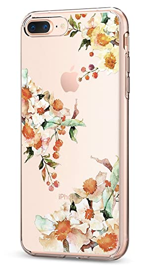 buy online f0c36 9a596 Spigen Liquid Crystal [2nd Generation] iPhone 8 Plus Case/iPhone 7 Plus  Case with Premium Clarity for Apple iPhone 8 Plus (2017) / iPhone 7 Plus ...
