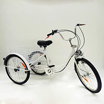 BTdahong Triciclo Adultos de 6 Velocidades, Bicicleta con 3 Ruedas ...