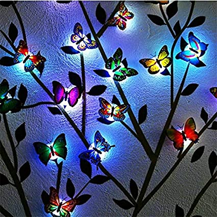 Lights & Lighting New Butterfly Light Night Light Fire Tree Silver Flower Pvc Cover Lamp Decorative Table Lamp Bedroom Bedside Lamp Pvc Light Products Hot Sale Led Night Lights