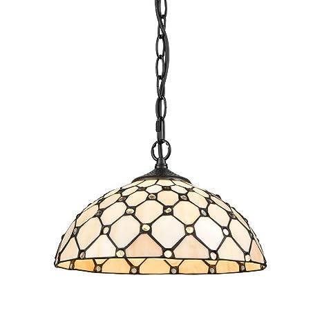 EUL Tiffany Style Pendant Lighting Ceiling Light Fixture Hanging Art ...