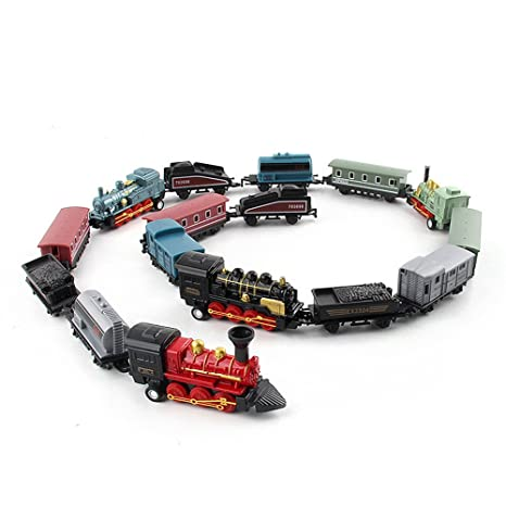 Amazon.com: Voberry- Classical Alloy Retro Steam Simulated Joint Train Model Kids Child Best Toys Gifts: Kitchen & Dining