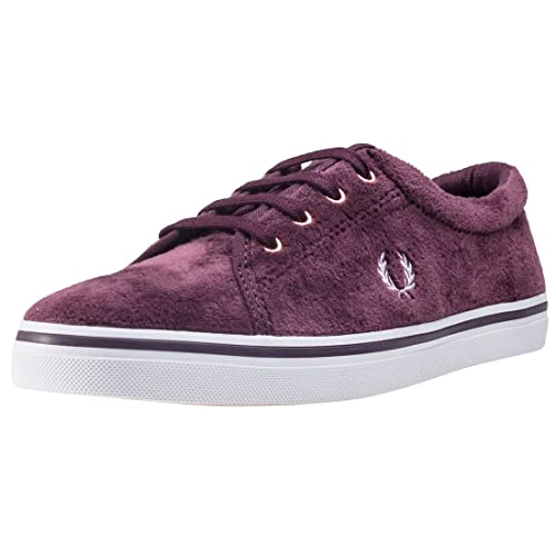 Fred Perry Aubyn Velour Mujer Zapatillas Granate: Amazon.es: Zapatos y complementos