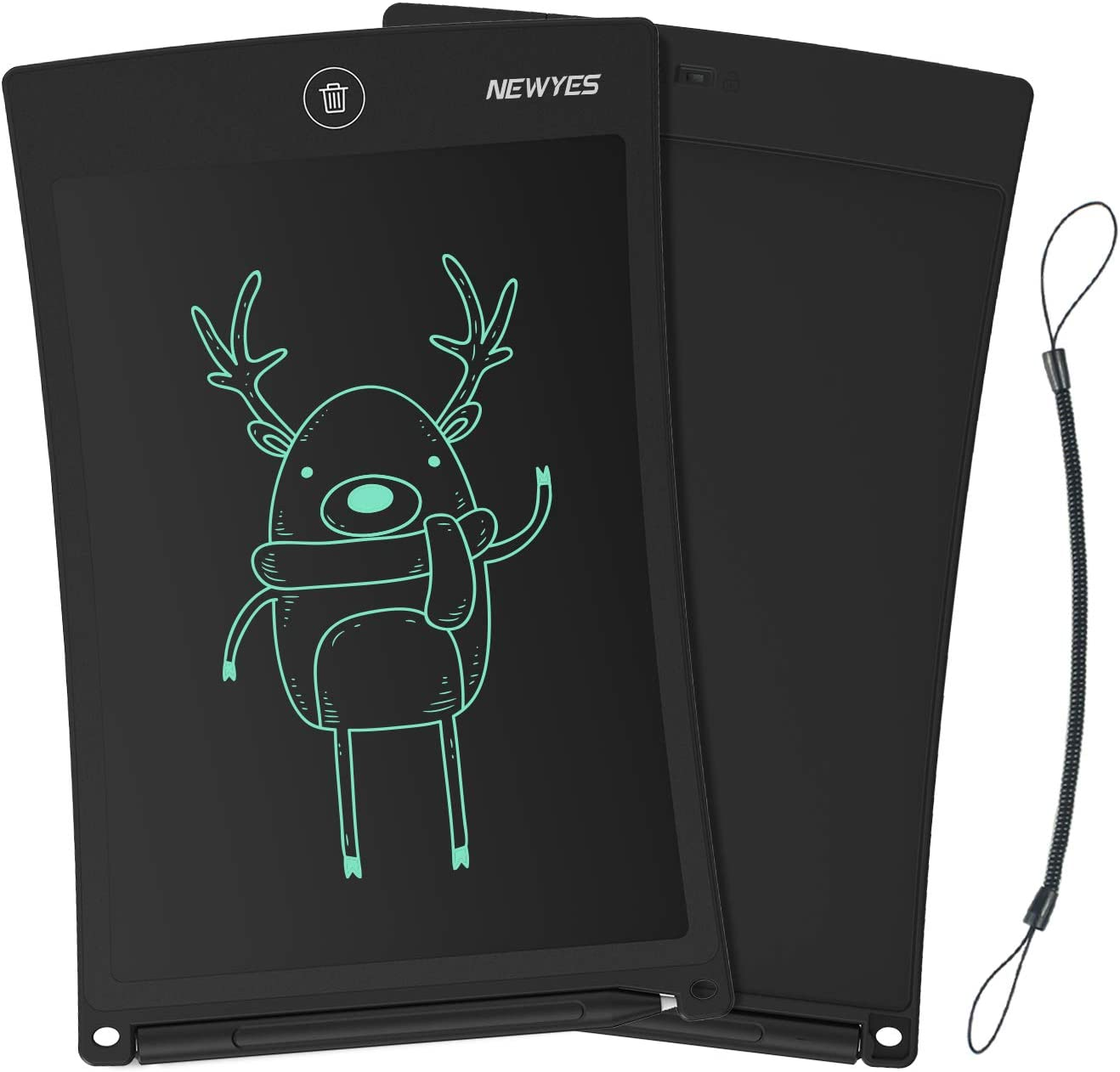 NEWYES Jot 8.5 Inch Doodle Pad Drawing Board LCD Writing Tablet with Lock Function for Note Taking eWriter Gifts for Kids Black