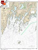 NOAA Chart 13301: Muscongus Bay; New Harbor; Thomaston 21.00 x 27.41 (SMALL FORMAT WATERPROOF)