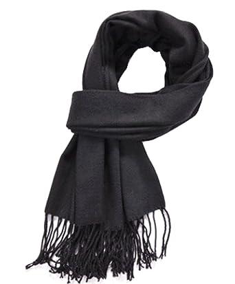 Bronze Times(TM) Femme écharpe plaid en laine acrylique foulard long avec  frange châle 91b485741b1